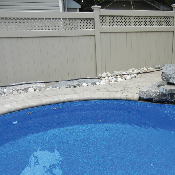PVC fence pool enclosure