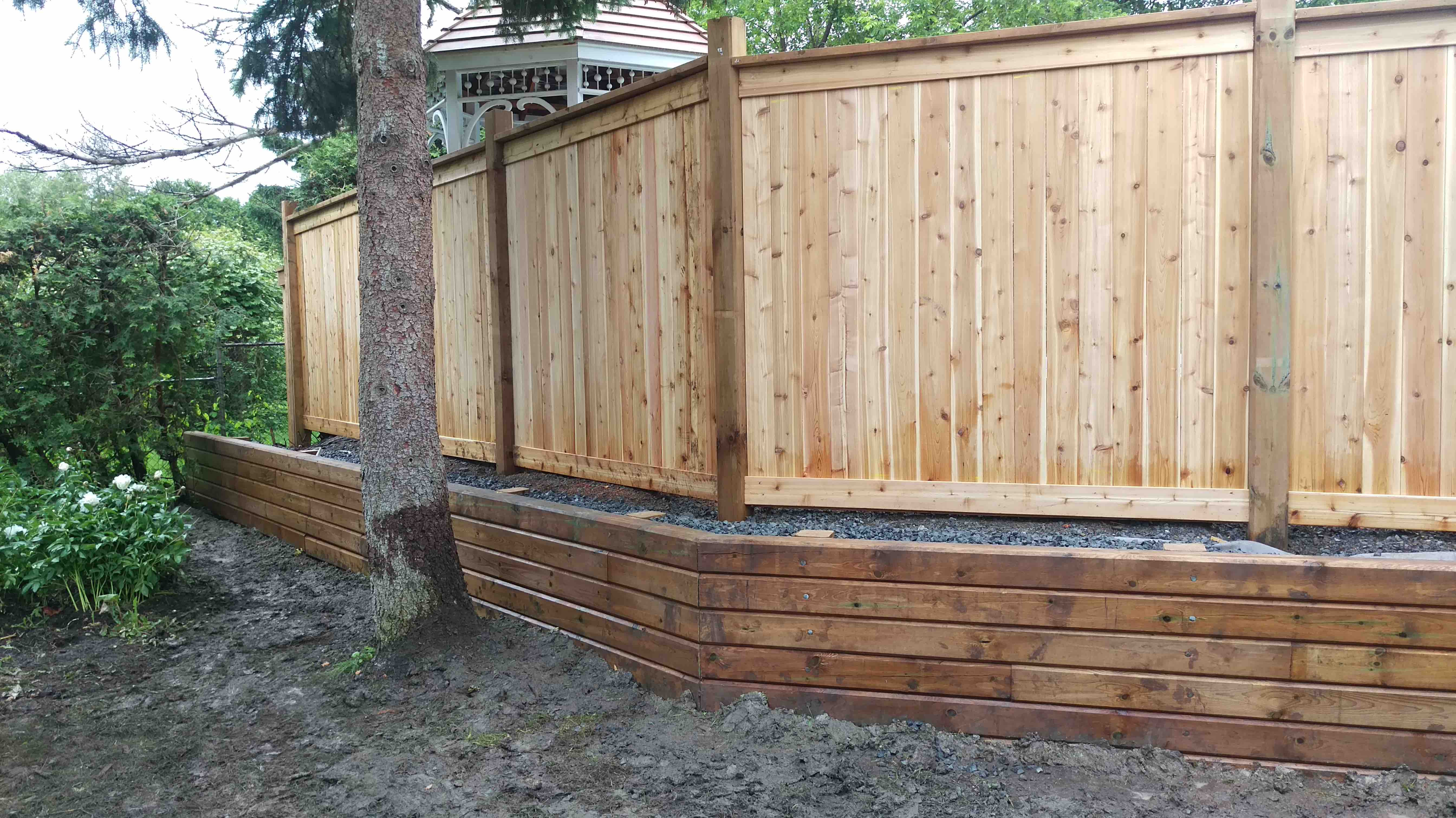 raised all wood ottawa fence